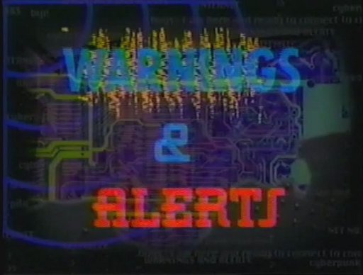 The title screen for the Warnings & Alerts segment